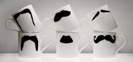 selekkt // Moustache Mugs by Peter Ibruegger